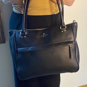 FLASH SALE 💋KATE SPADE NY BLACK LEATHER SATCHEL